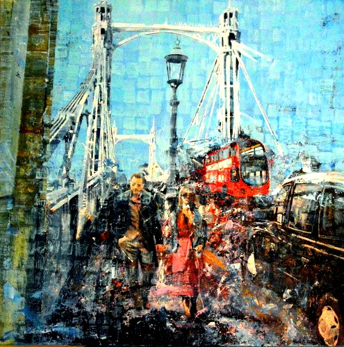 SOLD  Day Time Crossing Albert Bridge - Click For More